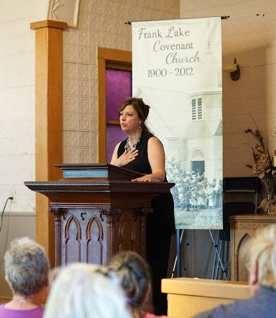 Kathy Weckwerth speaking at the Church in the Grove, MN